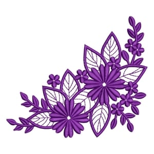 Flower Arrangement Embroidery Design