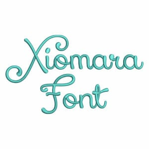 Xiomara Font Embroidery Design Pack