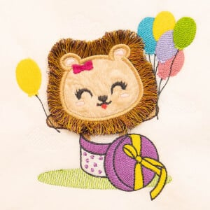 Lion fringe (In The Hoop) Embroidery Design