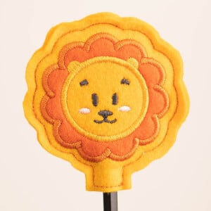 Lion Pencil Topper (In The Hoop) Embroidery Design