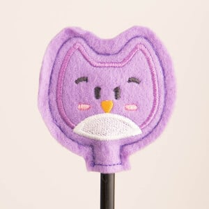 Owl Pencil Topper (In The Hoop) Embroidery Design