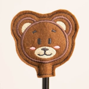 Teddy Bear Pencil Topper (In The Hoop) Embroidery Design
