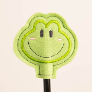 Frog Pencil Topper (In The Hoop) Embroidery Design