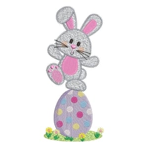 Easter Bunny (Quick Stitch) Embroidery Design