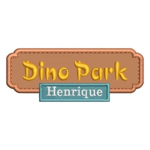 Matriz de bordado Placa Dino Park