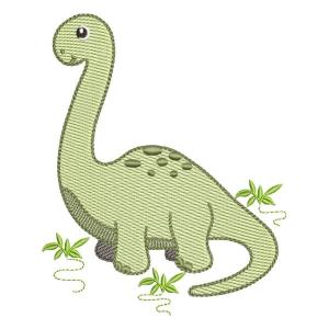 Matriz de bordado Brontosauro
