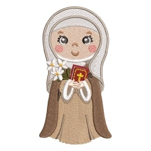 Catarina de Siena Embroidery Design