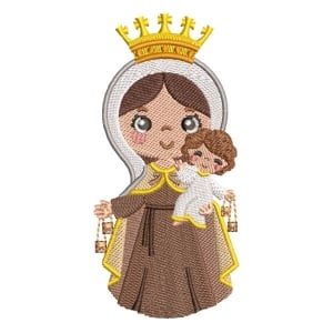 Our Lady of Nazareth Embroidery Design