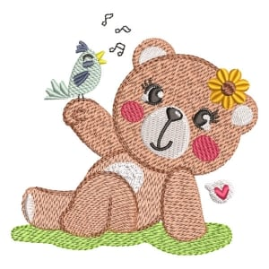 Bear (Quick Stich) Embroidery Design