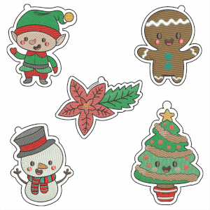Merry Christmas Embroidery Design Pack