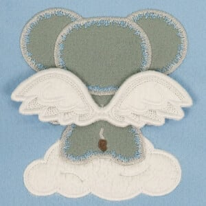 Elephant with 3D Wings (In the Hoop) Embroidery Design