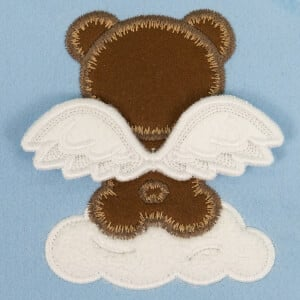 Teddy Bear with 3D Wings (In the Hoop) Embroidery Design