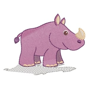 Safari Rhino (Quick Stitch) Embroidery Design