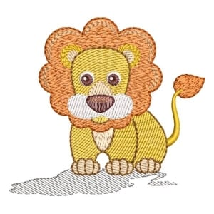 Safari Lion (Quick Stitch) Embroidery Design