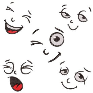 Faces to Mask III Embroidery Design Pack
