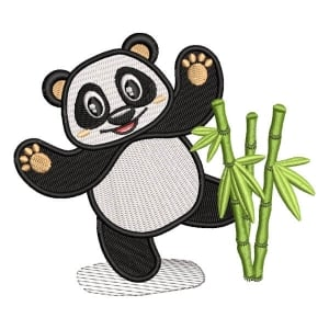 Panda Bear 4 Embroidery Design
