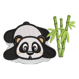 Panda Bear 3 Embroidery Design