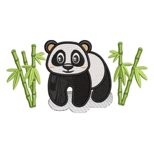 Panda Bear 2 Embroidery Design