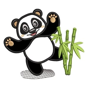 Panda Bear 4 (Applique) Embroidery Design