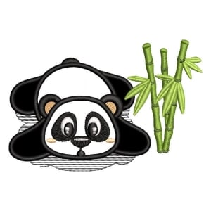 Panda Bear 3 (Applique) Embroidery Design