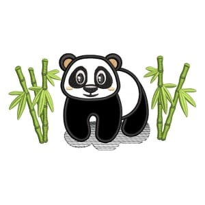 Panda Bear 2 (Applique) Embroidery Design