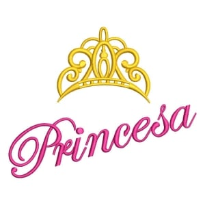 Matriz de bordado Princesa