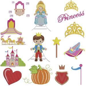 Magic Kingdom I Embroidery Design Pack
