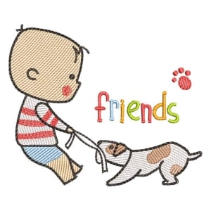 My Pet Friend 4 (Quick Stitch) Embroidery Design