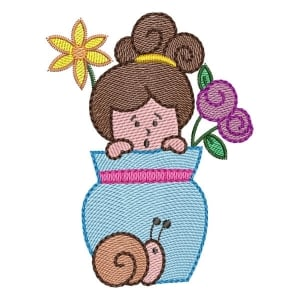 Girl 05 (Quick Stitch) Embroidery Design