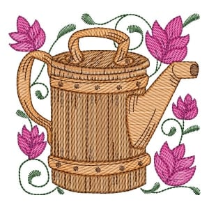 Watering Can 01 (Quick Stitch) Embroidery Design