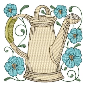 Watering Can 02 (Quick Stitch) Embroidery Design