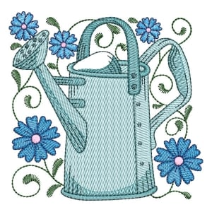 Watering Can 03 (Quick Stitch) Embroidery Design