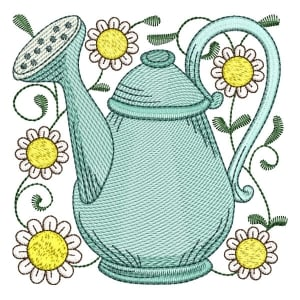 Watering Can 04 (Quick Stitch) Embroidery Design