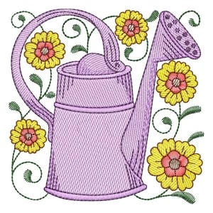 Watering Can 05 (Quick Stitch) Embroidery Design