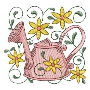 Watering Can 06 (Quick Stitch) Embroidery Design