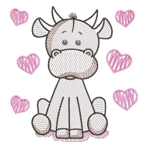 Cow (Quick Stitch) Embroidery Design
