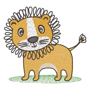 Safari Lion (Quick Stich) Embroidery Design