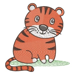 Safari Tiger (Quick Stitch) Embroidery Design
