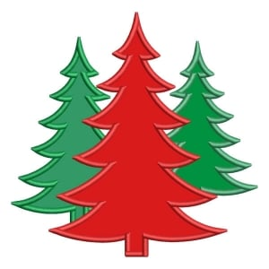 Christmas Tree (Applique) Embroidery Design