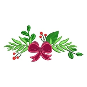 Christmas Arrangement (Applique) Embroidery Design