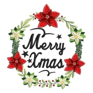 Merry Christmas (Applique) Embroidery Design