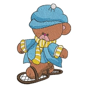 Teddy Bear 01 Embroidery Design