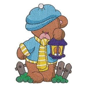Teddy Bear 02 Embroidery Design
