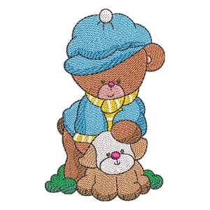Teddy Bear 04 Embroidery Design