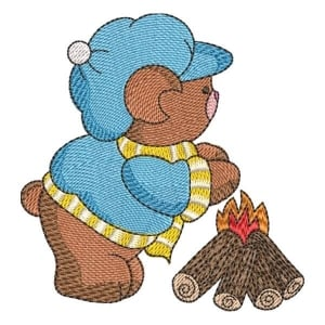 Teddy Bear 05 Embroidery Design