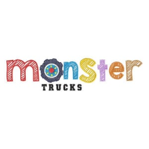 Matriz de bordado Monster Trucks