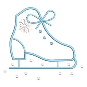 Christmas rollerblades Embroidery Design