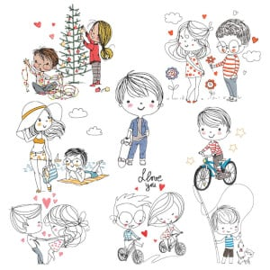 Kids Embroidery Designs Pack