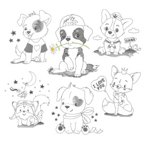 Animals Embroidery Design Pack