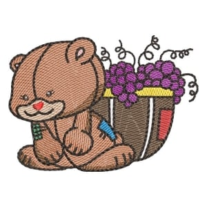 Cute teddy bear (Quick Stitch) Embroidery Design